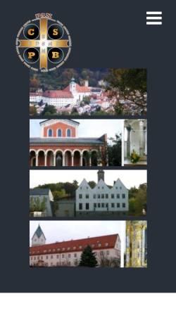 Vorschau der mobilen Webseite www.benediktiner.org, Benediktiner in aller Welt