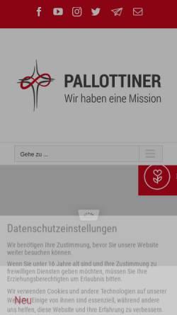 Vorschau der mobilen Webseite www.pallottiner.org, Pallottiner in Deutschland
