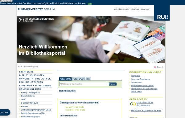 Vorschau von www.ub.rub.de, Universitätsbibliothek Bochum