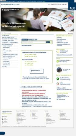 Vorschau der mobilen Webseite www.ub.rub.de, Universitätsbibliothek Bochum