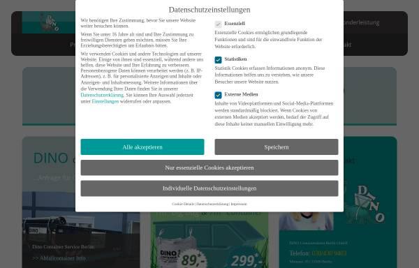 Vorschau von www.dino-container.de, Dino Containerdienst Berlin GmbH