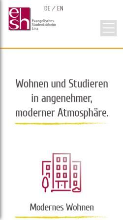 Vorschau der mobilen Webseite www.esh.uni-linz.ac.at, ESH