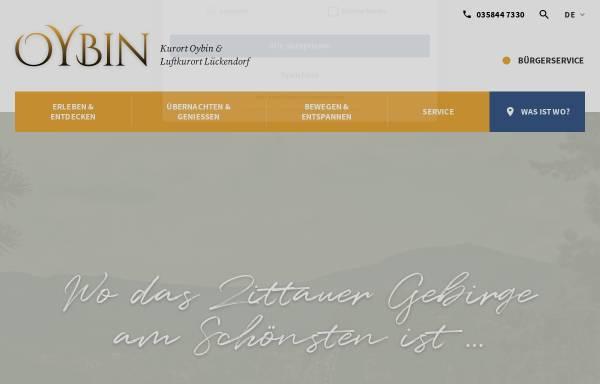 Vorschau von www.oybin.com, Gemeinde Oybin