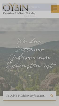Vorschau der mobilen Webseite www.oybin.com, Gemeinde Oybin