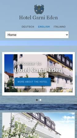 Vorschau der mobilen Webseite www.hotel-meersburg.de, Hotel Garni Eden