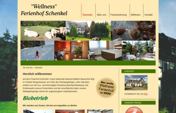 Vorschau von www.ferienhof-schenkel.de, Bauernhofpension Schenkel