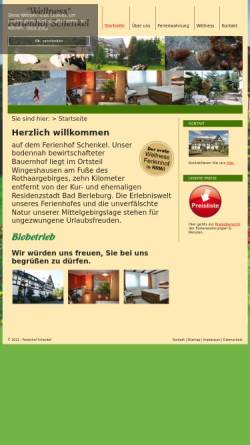 Vorschau der mobilen Webseite www.ferienhof-schenkel.de, Bauernhofpension Schenkel