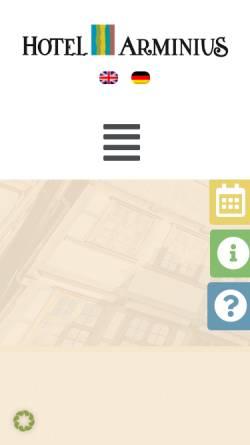 Vorschau der mobilen Webseite www.hotelarminius.de, Hotel Arminius