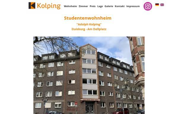 Vorschau von studentenwohnheim.dellplatz.de, Studentenwohnheim Adolph Kolping