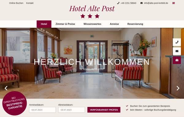 Vorschau von www.alte-post-krefeld.de, Hotel Alte Post