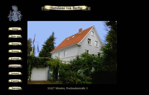 Vorschau von www.vonbarfus.de, Gästehaus von Barfus