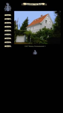 Vorschau der mobilen Webseite www.vonbarfus.de, Gästehaus von Barfus