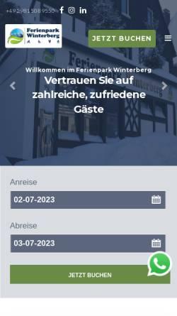 Vorschau der mobilen Webseite www.ferienpark-winterberg.de, Ferienpark Fichtenweg