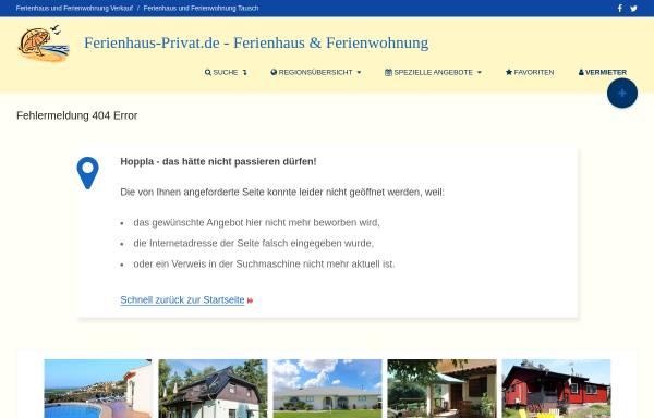Vorschau von www.ferienhaus-privat.de, Ferienwohnung Henker