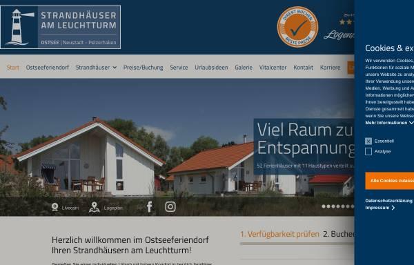 Vorschau von www.ostseeferiendorf.de, Strandhäuser am Leuchtturm