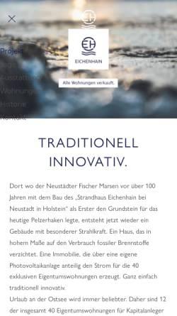 Vorschau der mobilen Webseite www.eichenhain.de, Seehotel Eichenhain