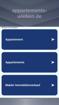 Vorschau der mobilen Webseite www.appartements-wieben.de, Appartements Wieben