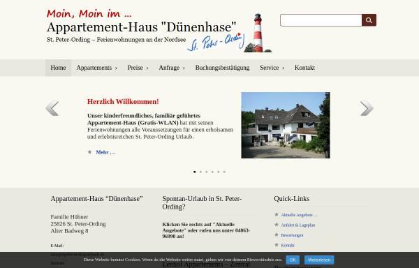 Vorschau von www.stpeterording-urlaub.de, Appartement-Haus