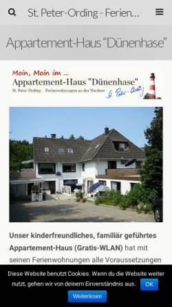 Vorschau der mobilen Webseite www.stpeterording-urlaub.de, Appartement-Haus