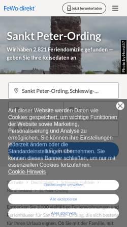 Vorschau der mobilen Webseite www.fewo-direkt.de, Ferienwohnung Sturmhaube