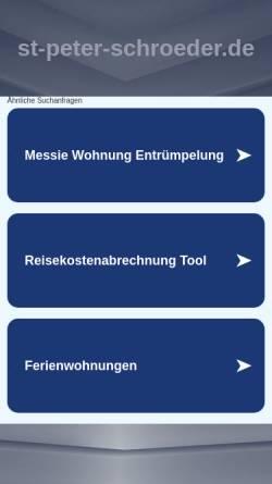 Vorschau der mobilen Webseite www.st-peter-schroeder.de, Ferienwohnungen Familie Schröder