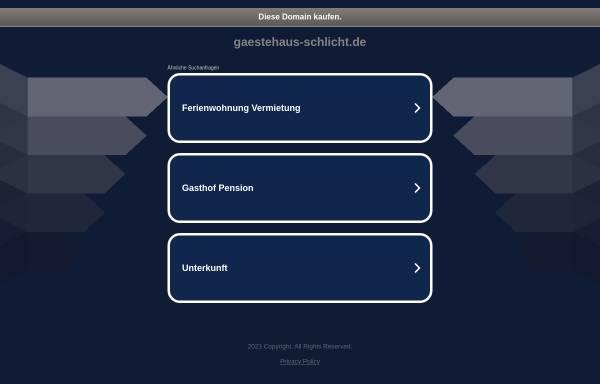 Vorschau von www.gaestehaus-schlicht.de, Gästehaus Schlicht