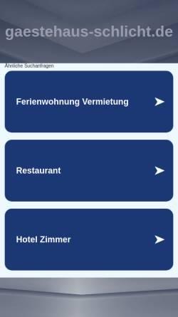 Vorschau der mobilen Webseite www.gaestehaus-schlicht.de, Gästehaus Schlicht
