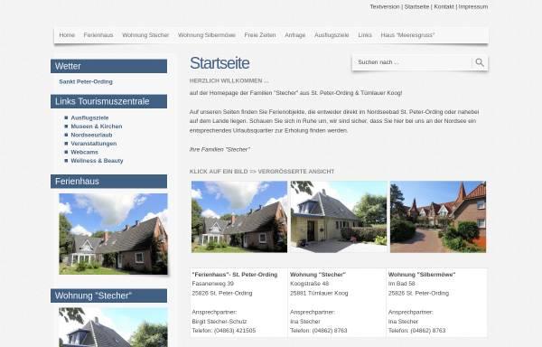 Vorschau von www.stpeter-dorf.de, Ferienhäuser Familie Stecher