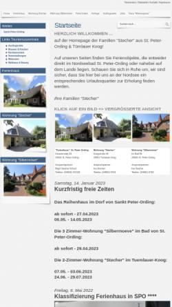 Vorschau der mobilen Webseite www.stpeter-dorf.de, Ferienhäuser Familie Stecher