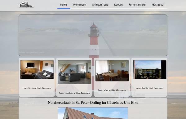 Vorschau von www.bad-st-peter-ording.de, Gästehaus