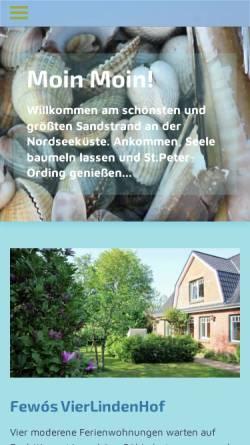 Vorschau der mobilen Webseite www.vierlindenhof.de, Vierlindenhof