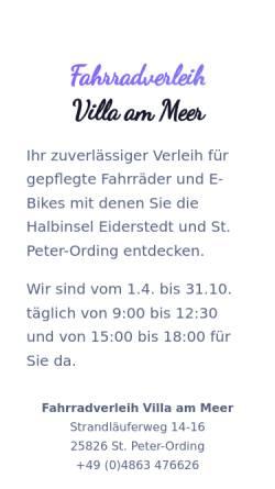Vorschau der mobilen Webseite www.villa-am-meer.net, Villa am Meer