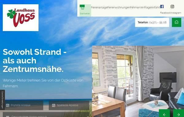 Vorschau von www.landhaus-voss.de, Landhaus Voss
