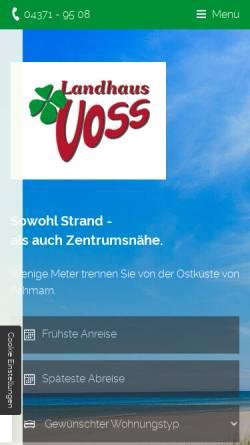Vorschau der mobilen Webseite www.landhaus-voss.de, Landhaus Voss