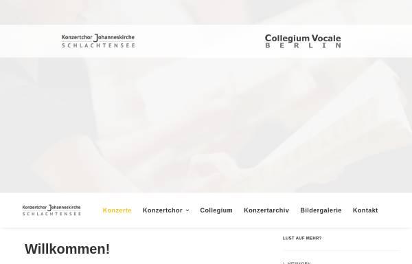 Vorschau von www.chor-berlin-schlachtensee.de, Chor der Johanneskirche Schlachtensee