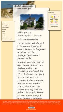 Vorschau der mobilen Webseite www.hausbastian-sylt.de, Haus Bastian
