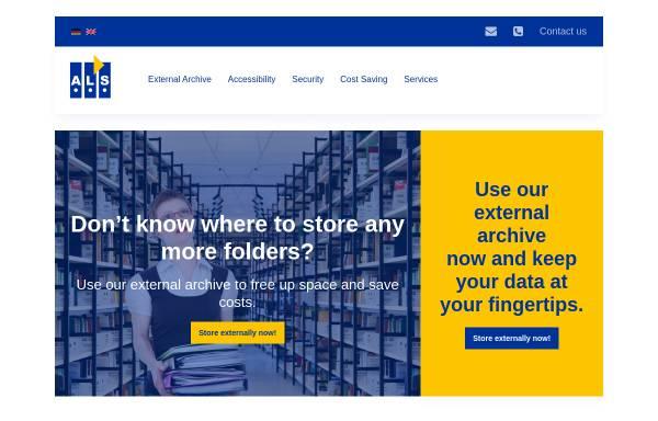 Vorschau von als-fra.de, ALS Akten Logistik und Service GmbH