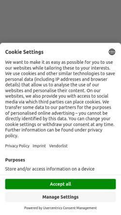 Vorschau der mobilen Webseite www.messefrankfurt.com, Messe Frankfurt GmbH
