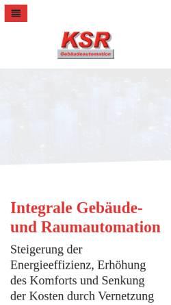 Vorschau der mobilen Webseite www.ksr-automation.de, KSR Gebäudeautomation