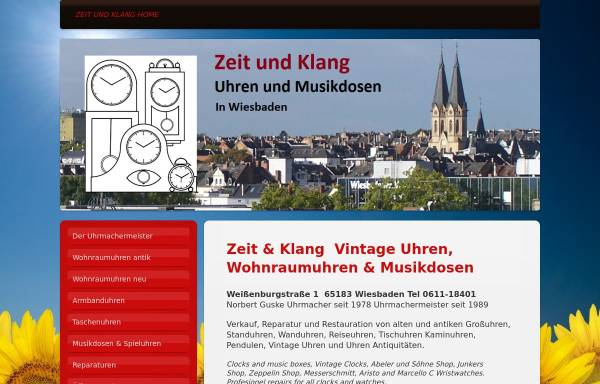 Vorschau von www.guske-uhren.de, Uhrmachermeister Norbert Guske