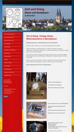 Vorschau der mobilen Webseite www.guske-uhren.de, Uhrmachermeister Norbert Guske