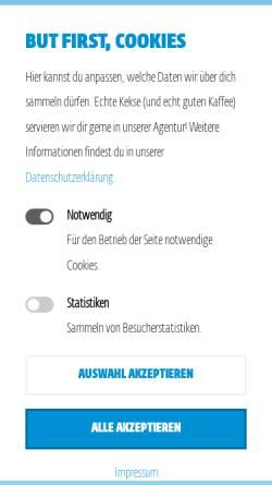 Vorschau der mobilen Webseite www.inmedium.de, Inmedium GmbH Werbeagentur
