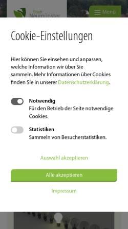 Vorschau der mobilen Webseite www.neumuenster.de, Kindertagesstätte Schwedenhaus