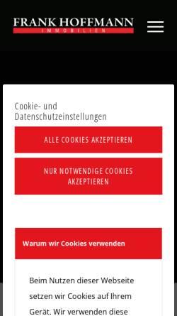 Vorschau der mobilen Webseite www.frankhoffmann-immobilien.de, Frank Hoffmann Immobilien GmbH & Co. KG