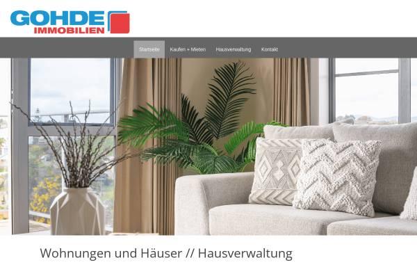 Vorschau von www.gohde-immobilien.de, Gohde Immobilien, Rüdiger Gohde