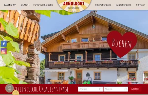 Vorschau von www.bauernhofurlaub.co.at, Bauernhofurlaub am Arnoldgut in Altenmarkt Zauchensee, Salzburgerland
