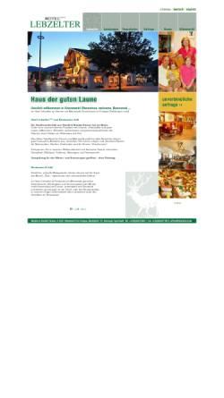 Vorschau der mobilen Webseite www.lebzelter.com, Hotel Lebzelter