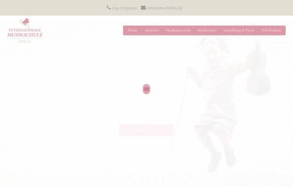 Vorschau von www.musik-schule-berlin.de, Internationale Musikschule Berlin