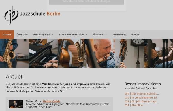 Vorschau von jazzschule-berlin.de, jazzschule berlin - für alle Instrumente und Gesang