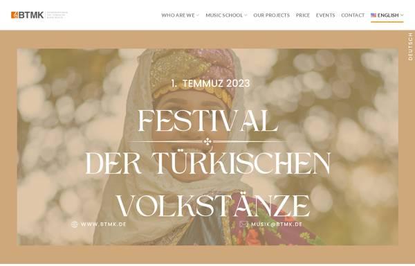 Vorschau von www.btmk.de, Konservatorium für türkische Musik Berlin